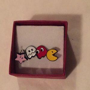 Jewelry - Brand new 2 set Pac-Man pierced ears earrings